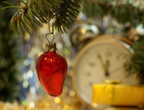 Papel de parede: Morango em a  Natal árvore.