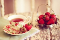 chá de morangos