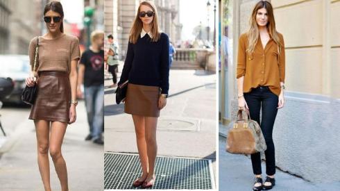 Com o marrom você pode montar looks mais quentes ou mesmo mais leves