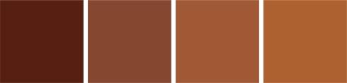 A paleta marrom pode ser usada tanto em tons mais escuros como em mais claros